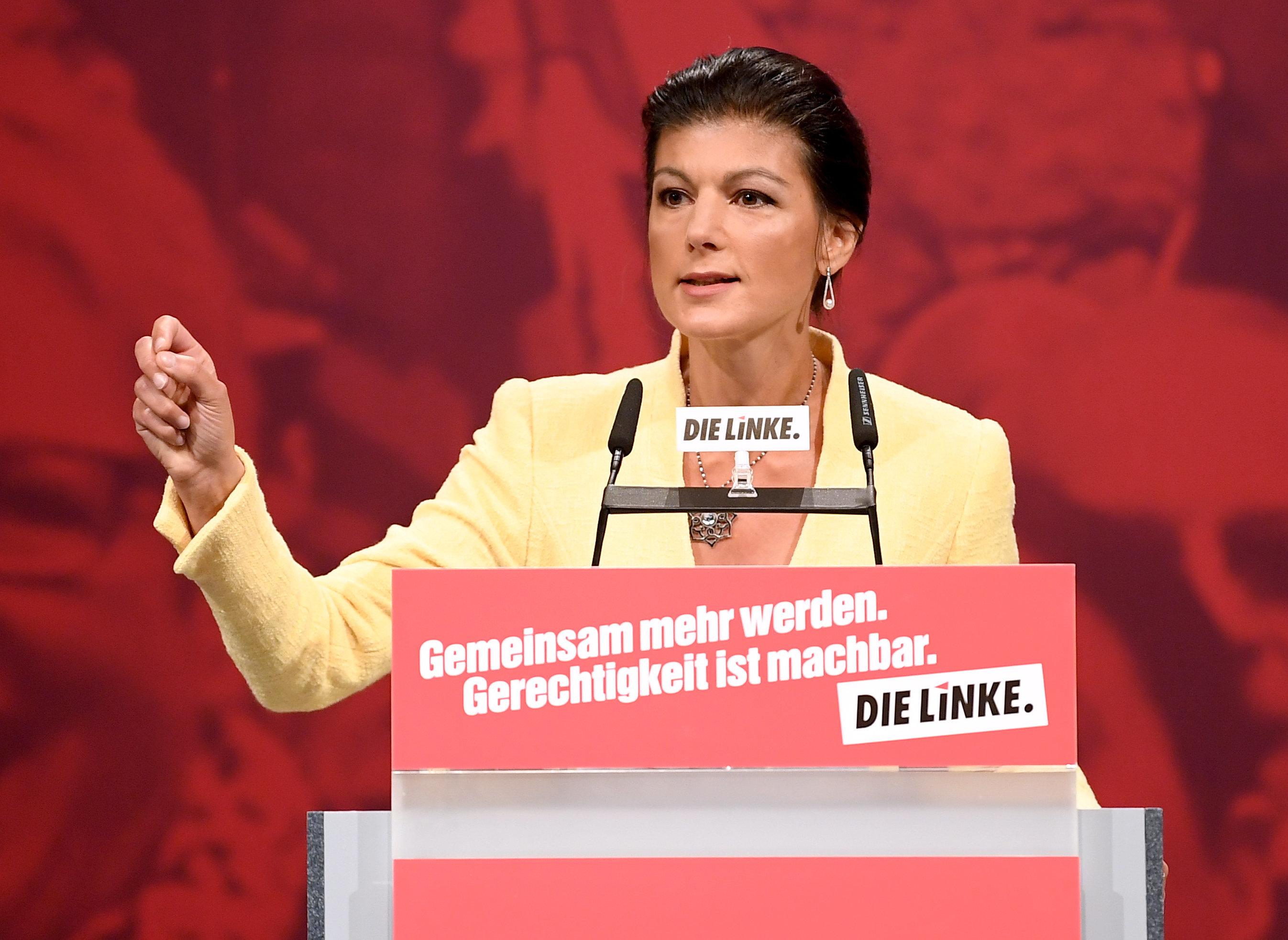 Flüchtlingsstreit eskaliert: Wagenknecht wird bei Rede auf Parteitag