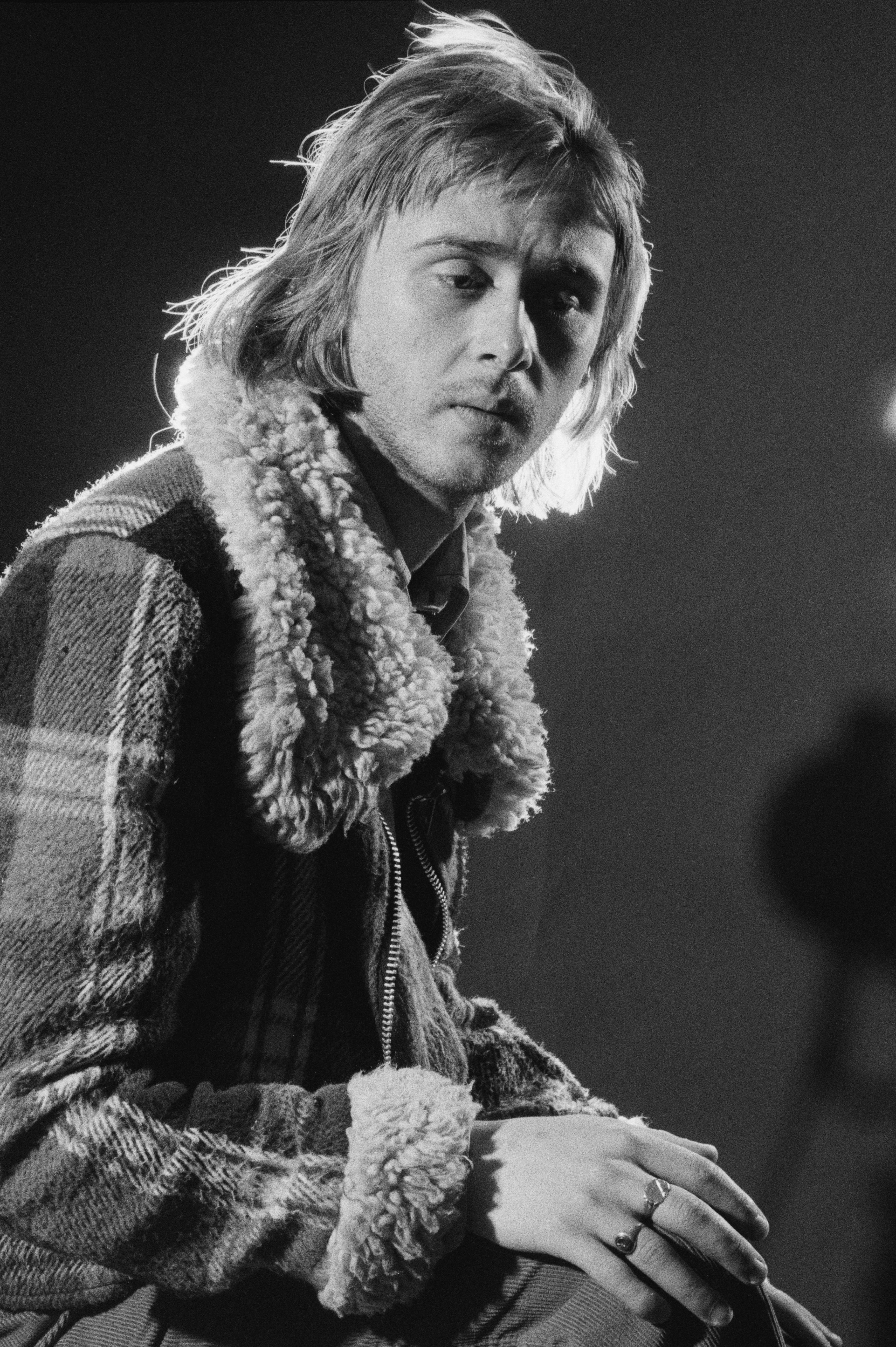 British guitarist, singer and songwriter, Danny Kirwan, formerly of Fleetwood Mac, July 1975. (Photo by Michael Putland/Getty Images)