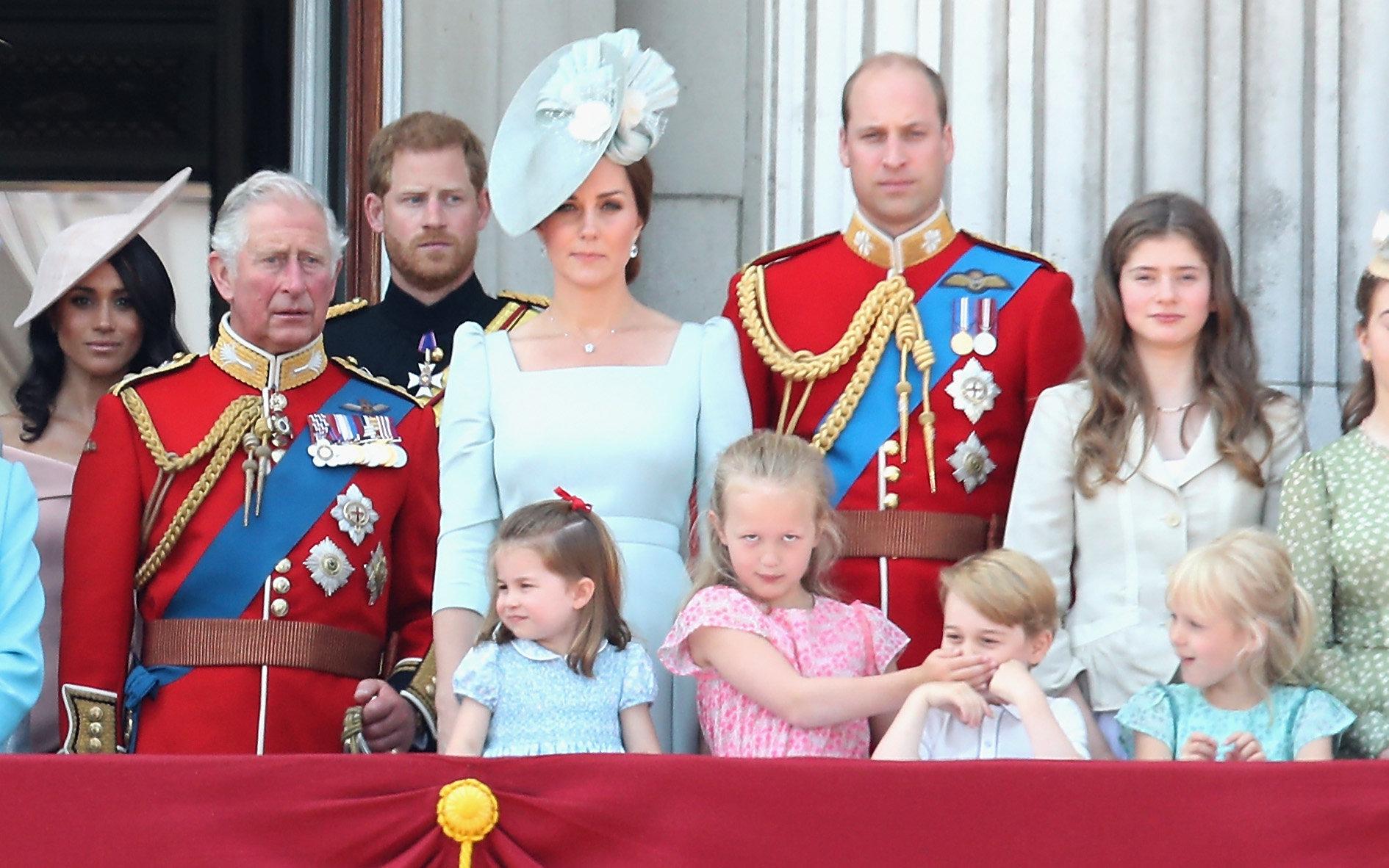 Herzogin Kate und Prinzessin Charlotte Ton in