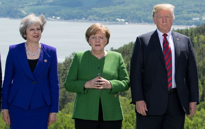 Trump met with G-7 leaders this weekend including Germany's Angela Merkel and Britain's Theresa May in Canada.