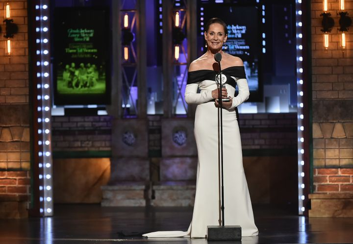 Laurie Metcalf accepts the Best Performance by an Actress in a Featured Role in a Play award.
