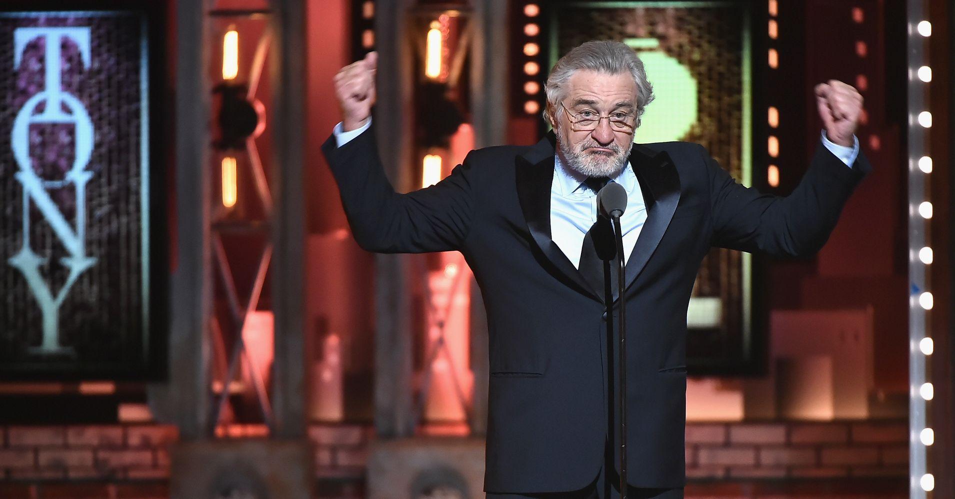 Robert De Niro Says 'F**k Trump' Twice At Tony Awards