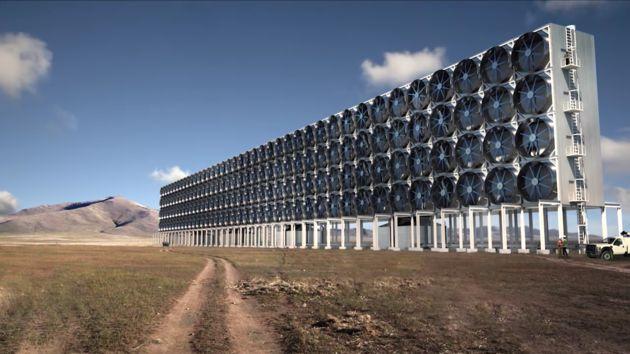해로운 이산화탄소를 공기에서 빨아 없애는 기계가