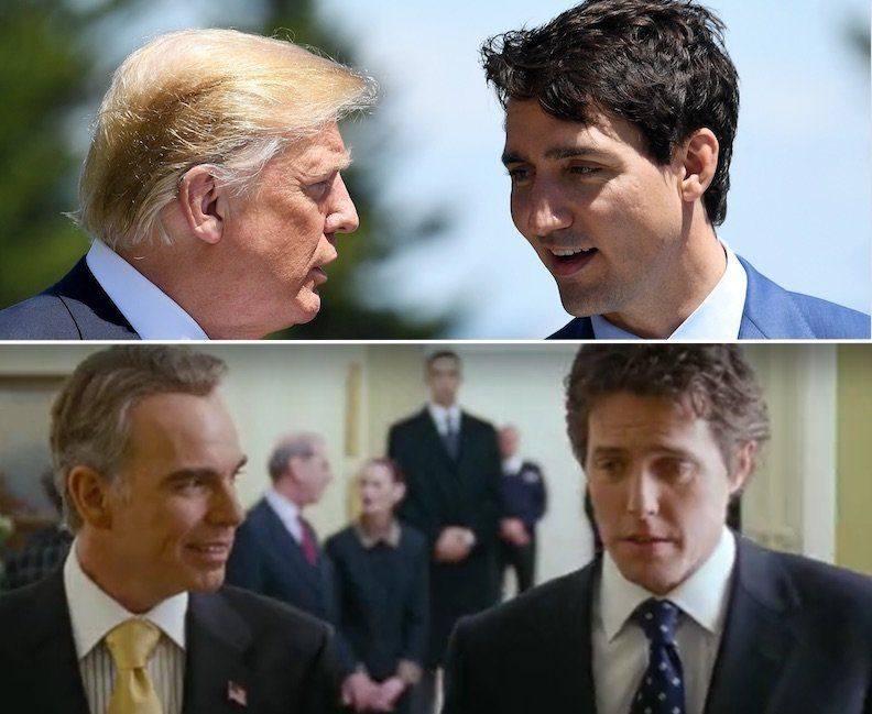 Trump Trudeau and Love Actually