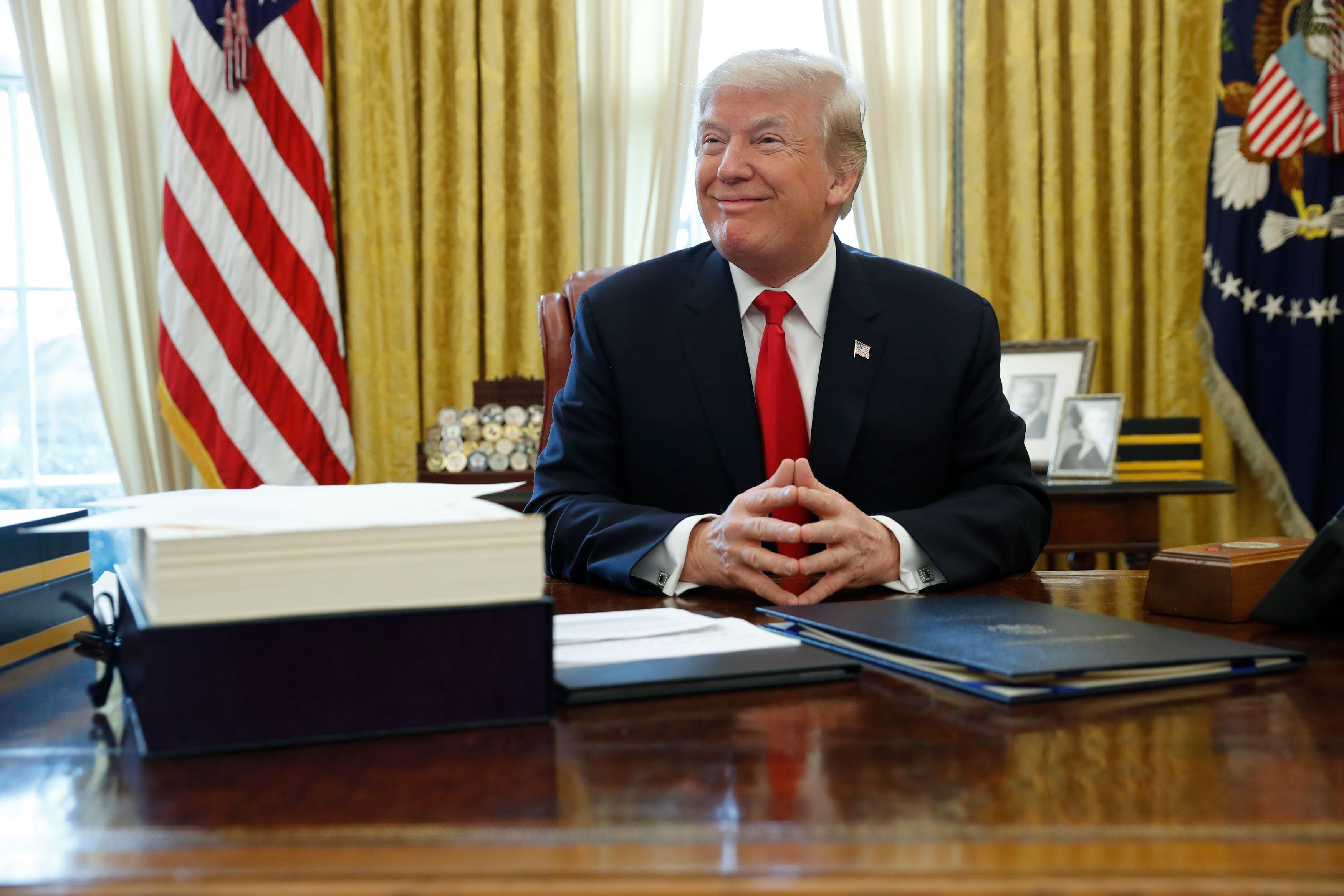 President Donald Trump reportedly rips documents, which then have to be taped back together by White House staff.