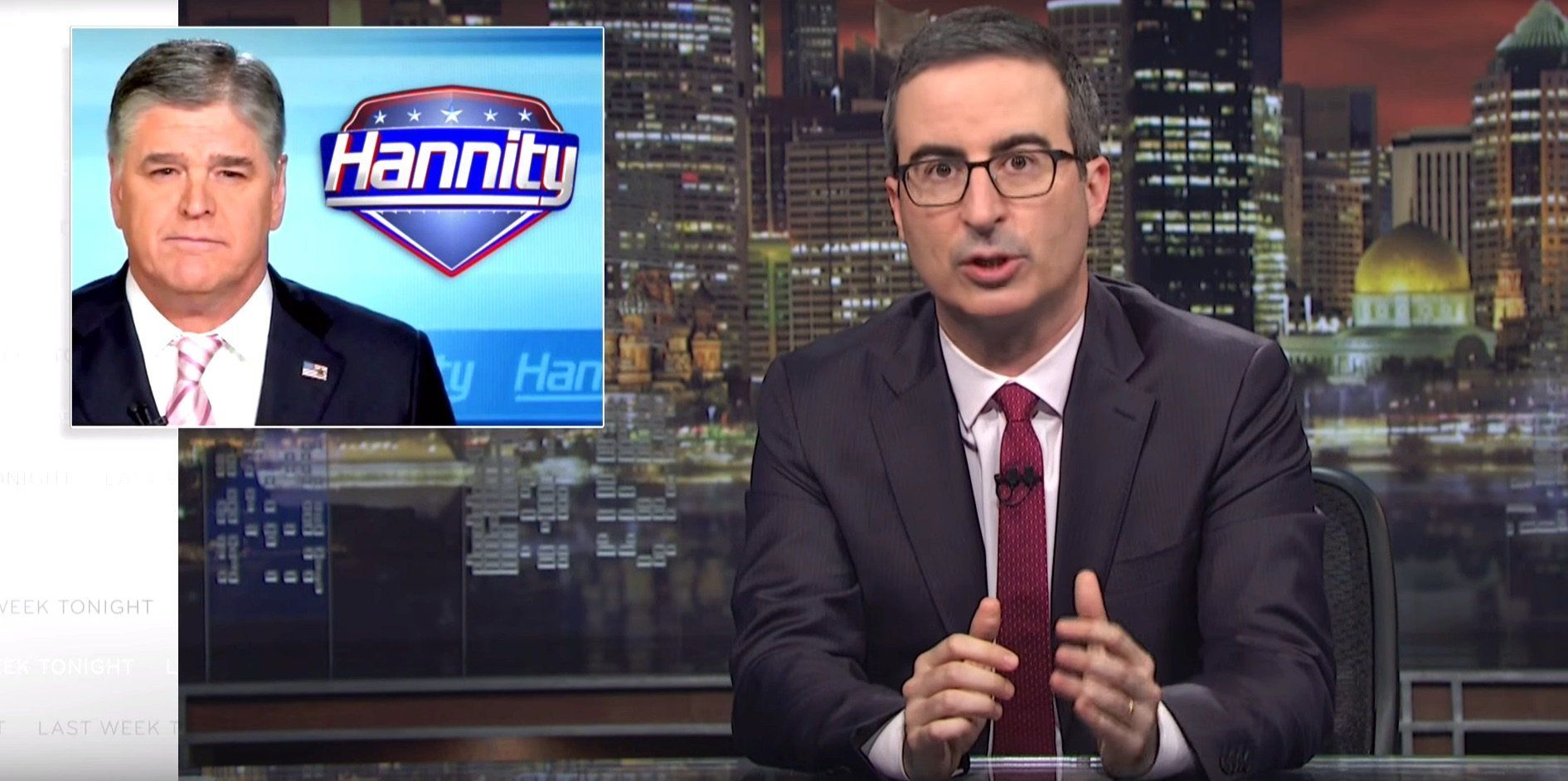 John Oliver Shreds Sean Hannity For 'S**ttiest Conspiracy Theory