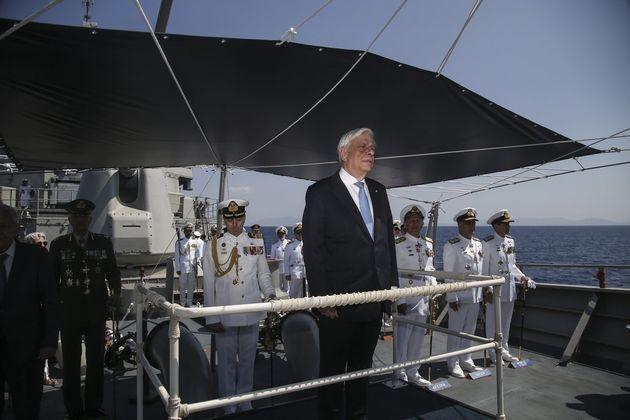 Παυλόπουλος: Το Πολεμικό μας Ναυτικό υπερασπίζεται τα ελληνικά σύνορα τα οποία δεν αμφισβητούνται με