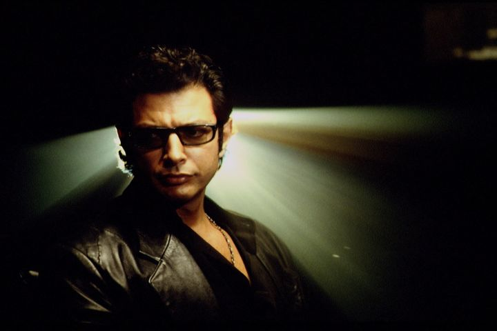 "Jeff Goldblum as Ian Malcolm in ""Jurassic Park."""