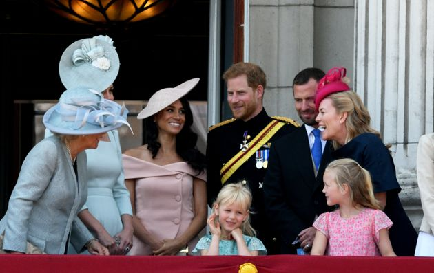 Sharing a laugh with the rest of the royal