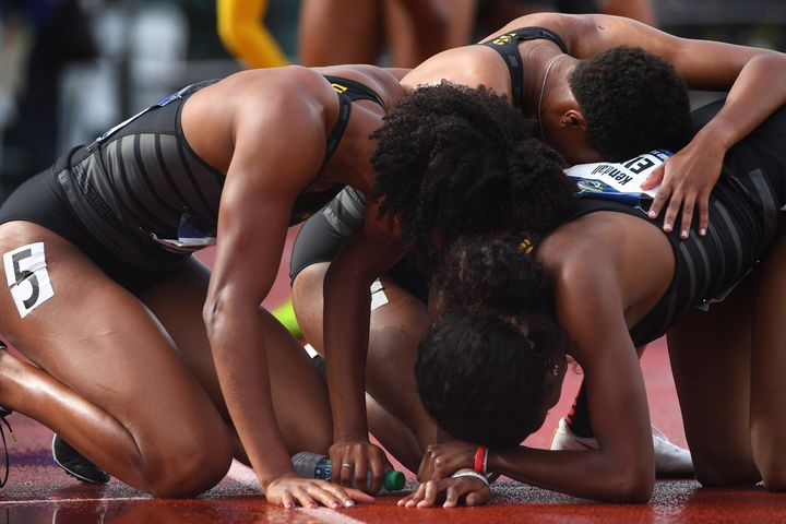 Kendall Ellis' improbable comeback in the women's 4x400 relay clinched the team title for USC at the NCAA Track & Field C