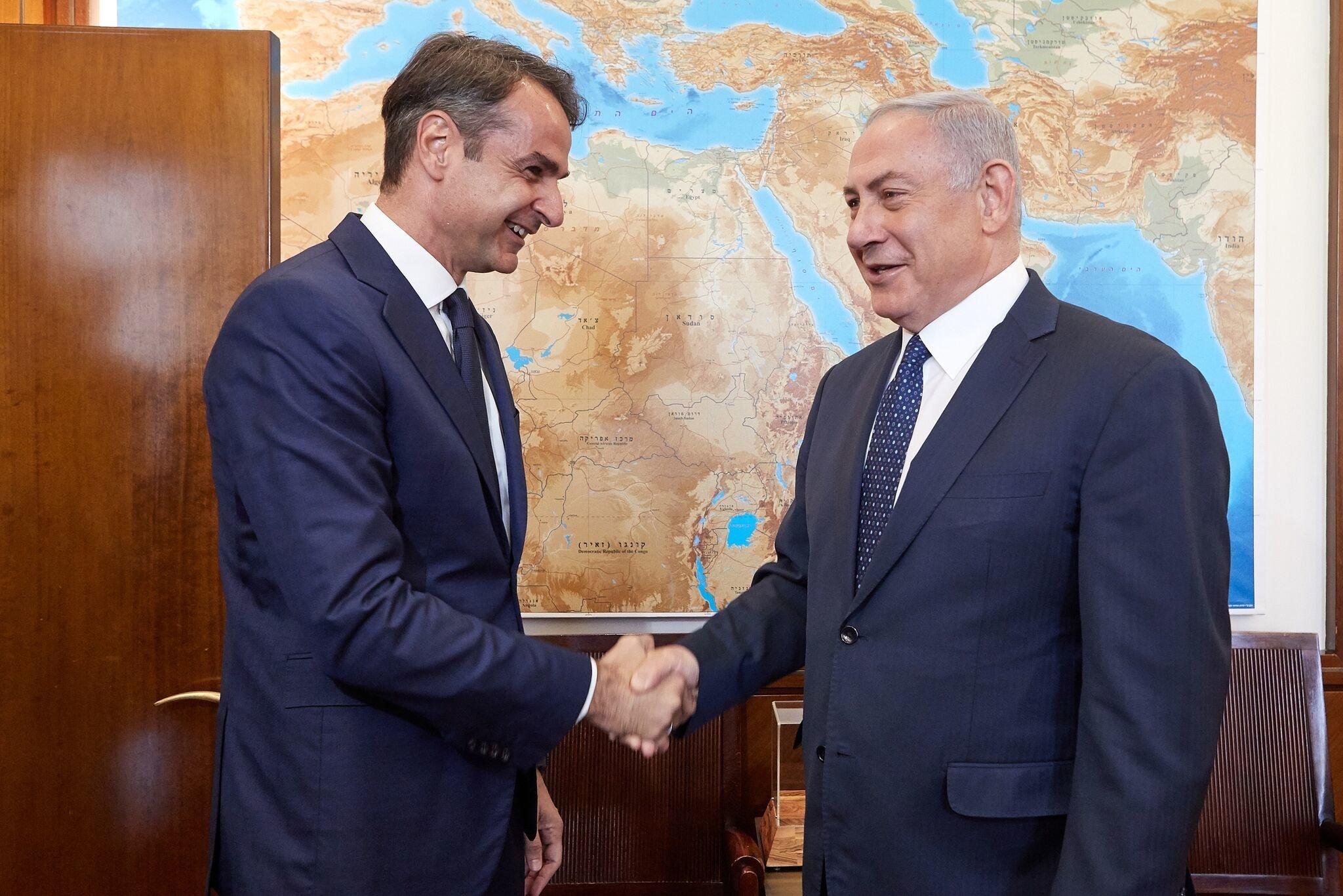 Για τη στρατηγική συνεργασία Ελλάδας-Ισραήλ συζήτησαν Μητσοτάκης και Νετανιάχου κατά τη συνάντησή