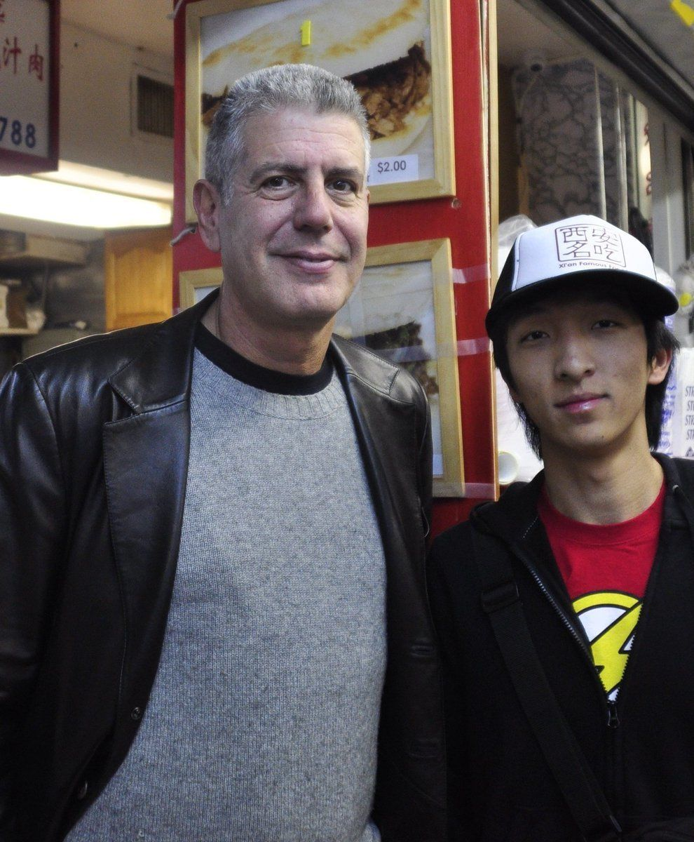 Anthony Bourdain and the author.