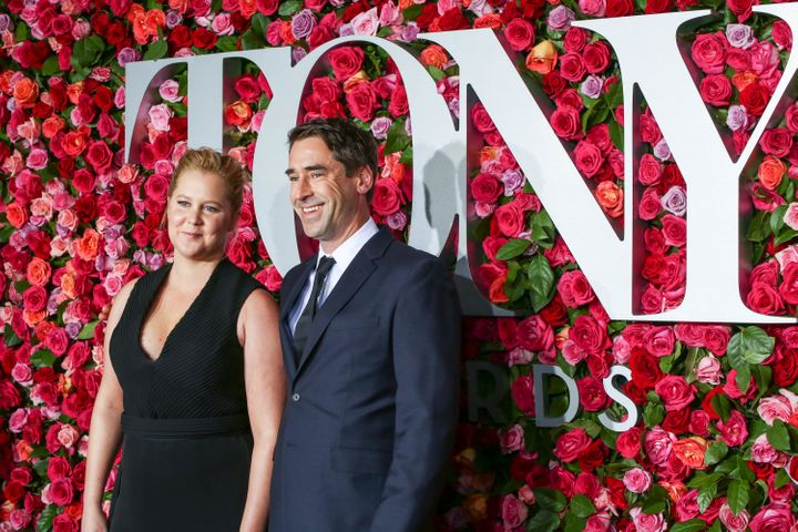 Amy Schumer and Chris Fischer attend the 72nd Annual Tony Awards at Radio City on June 10.