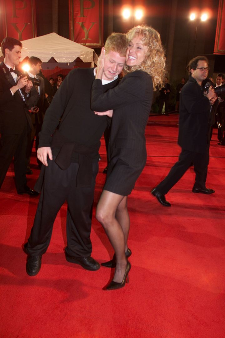 Farrah Fawcett and son Redmond O'Neal at the 2001 Espy Awards.