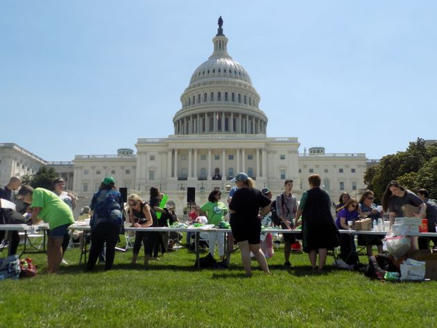 Dozens of advocates, consumers and vendors of the botanical drug kratom gathered for a rally in Washington...