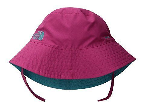 """Get it on <a href=""""https://www.zappos.com/p/the-north-face-kids-baby-sun-bucket-infant-petticoat-pink-blue-curacao/product/80"""