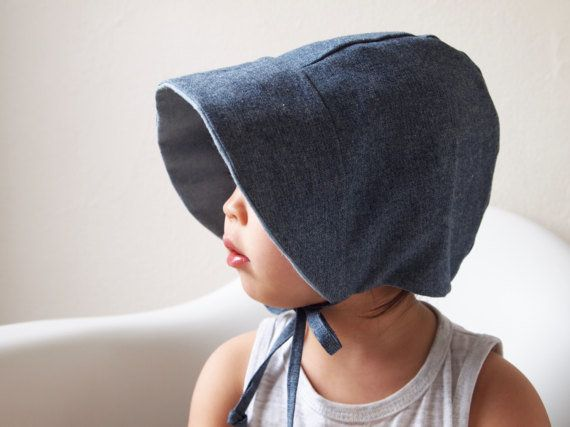 """Get it on <a href=""""https://www.etsy.com/listing/514649429/baby-bonnet-chambray-toddler-bonnet-baby?ga_order=most_relevant&amp"""