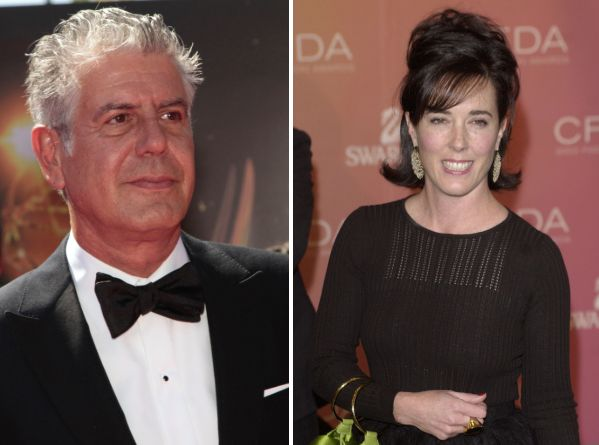Celebrity chef and television personality Anthony Bourdain and fashion designer Kate Spade