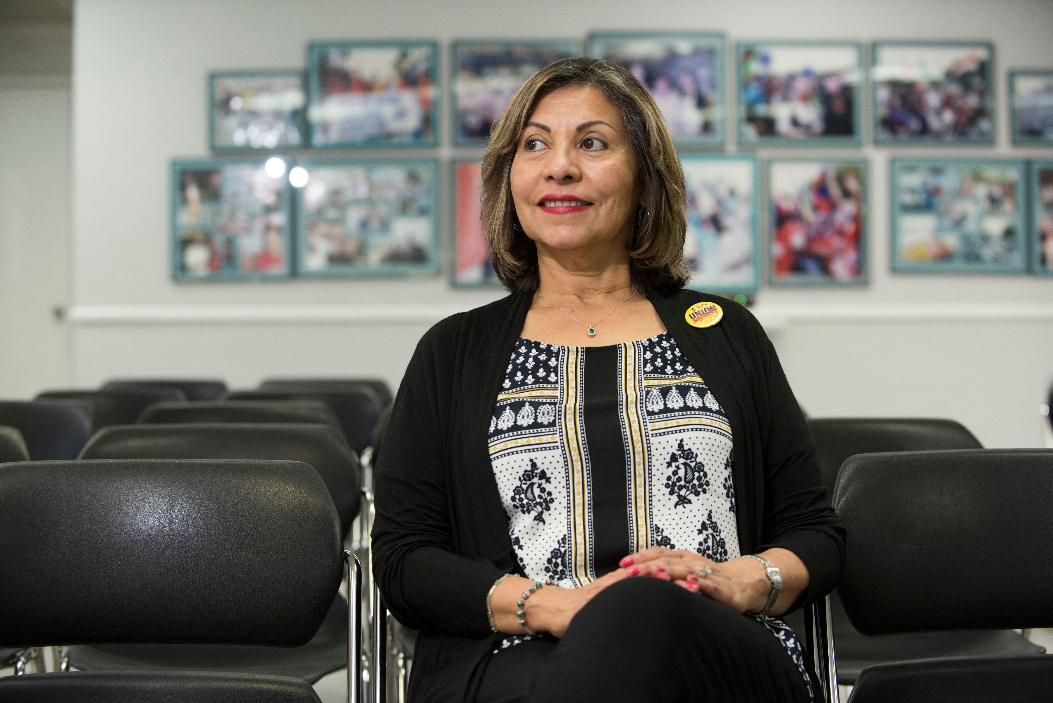 Geoconda Arguello-Kline, a native of Nigaragua and a former housekeeper, is now the top official at the Culinary Workers Unio