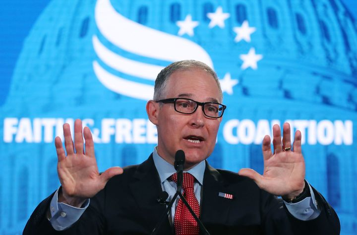 EPA Administrator Scott Pruitt speaks on June 8 at the Faith and Freedom Coalition Road to Majority Policy Conference.