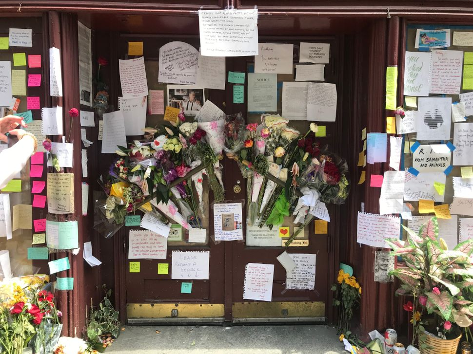 Fans of the late Anthony Bourdain left messages and flowers for the celebrity chef, author and TV host at Brasserie Les Halle