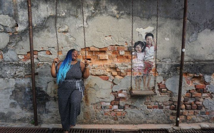 """I fell in love with all of the street art in Georgetown,"" blogger Annette Richmond said of Malaysia."