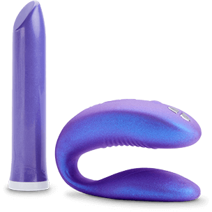 Includes the pocket-sized Tango vibrator and the partner vibrator Sync with a practical carrying case. $229, get it <a href=""
