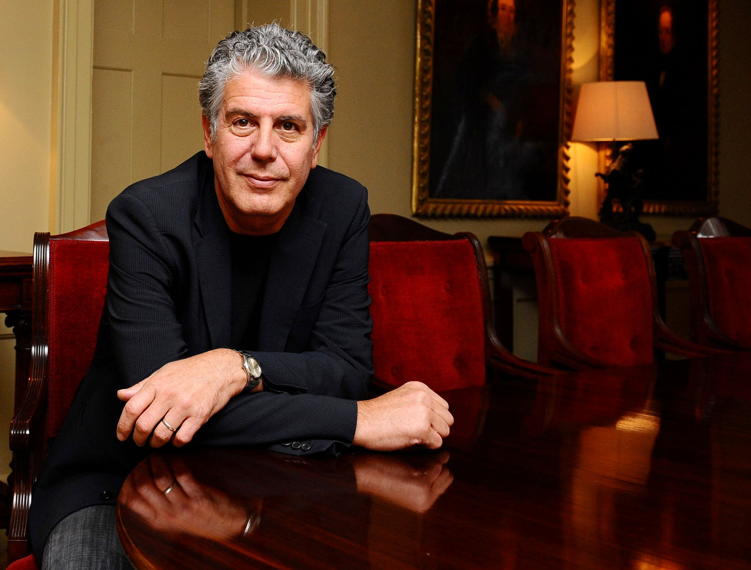 Anthony Bourdain promotes his new book Medium Raw at the Hazlitts club in London.