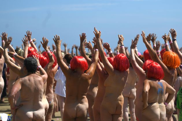 A record 2,505 women skinny-dipped near Wicklow, Ireland, on