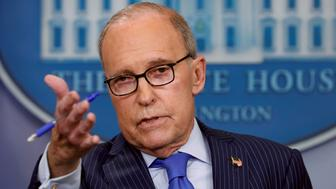 White House economic adviser Larry Kudlow gives a press briefing about upcoming G7 in the White House in Washington, U.S., June 6, 2018.  REUTERS/Kevin Lamarque