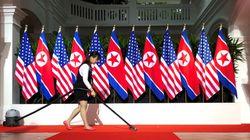 김정은과 트럼프가 처음으로 악수를 하게 될