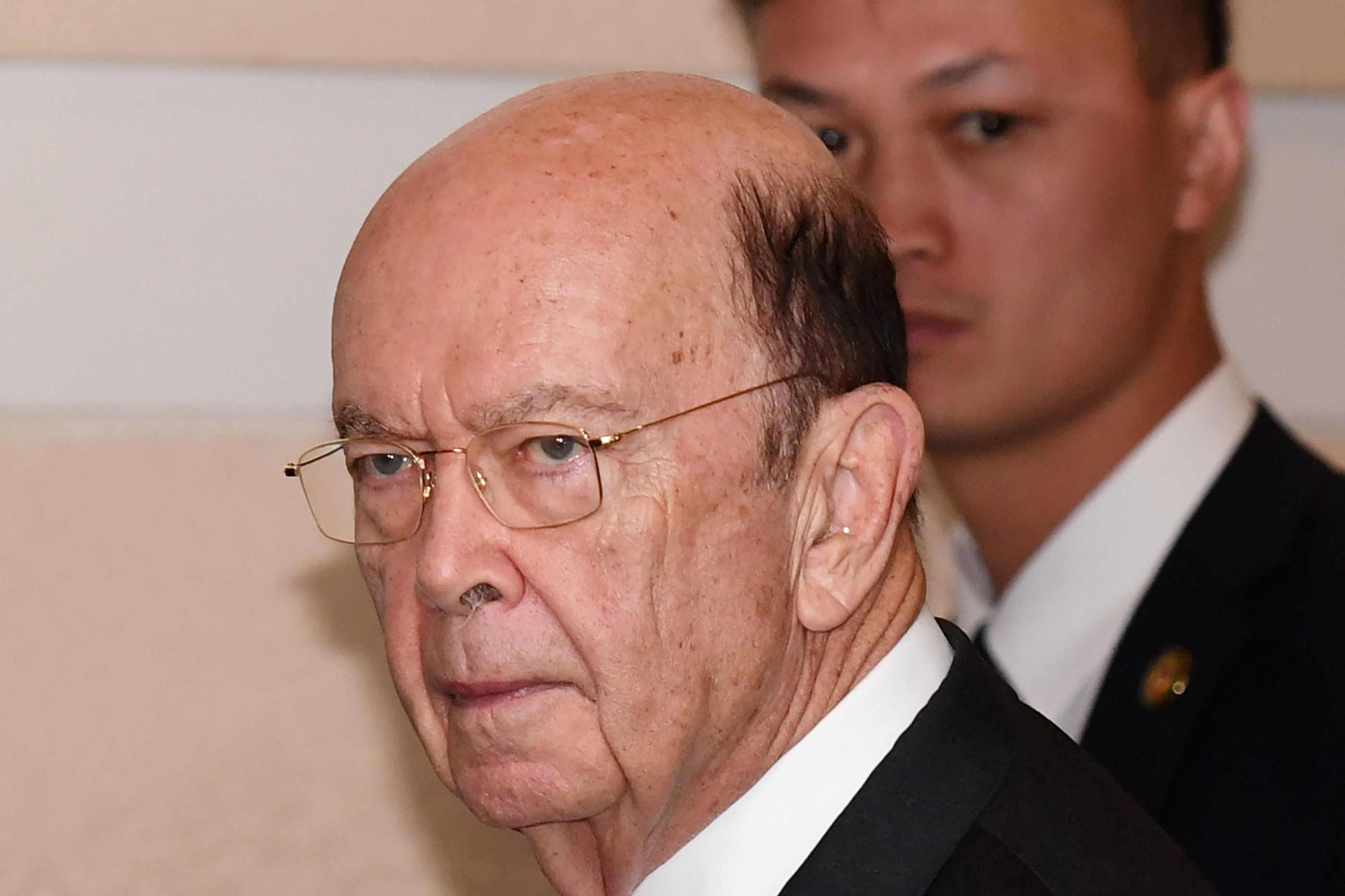 US Commerce Secretary Wilbur Ross leaves a hotel in Beijing on June 2, 2018. - US Commerce Secretary Wilbur Ross arrived in Beijing on June 2 for talks aiming to ease tensions over tariffs that have heightened fears of a trade war between the world's two biggest economies, Chinese state media said. (Photo by Greg Baker / AFP)        (Photo credit should read GREG BAKER/AFP/Getty Images)
