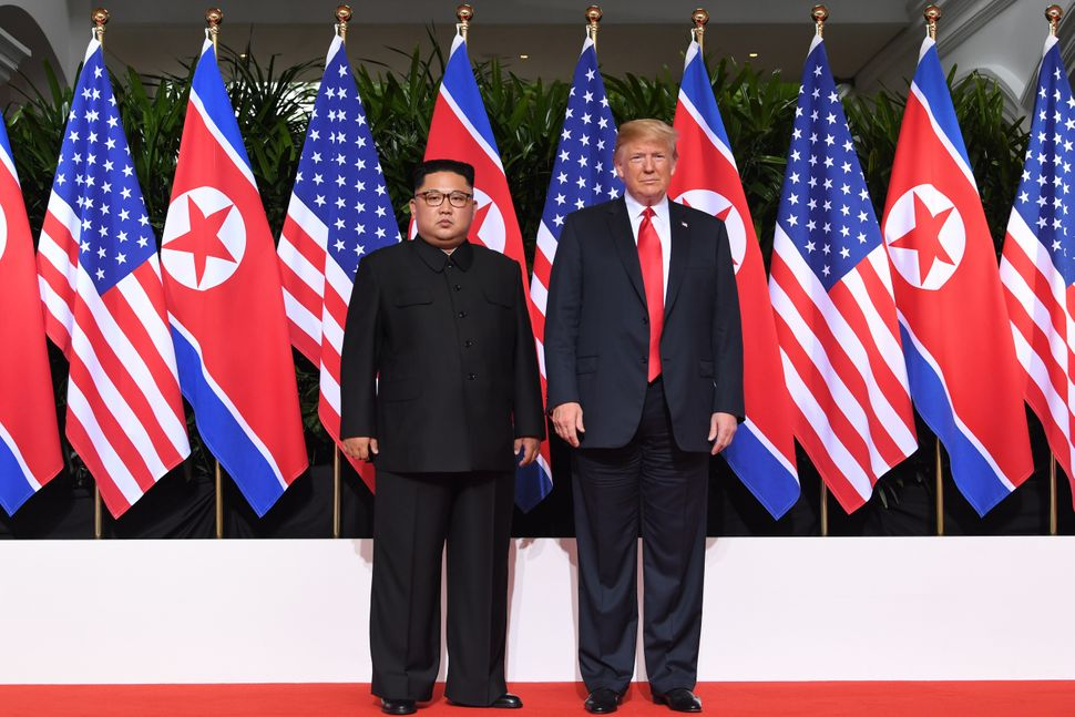 Trump and Kim pose ahead of the summit.