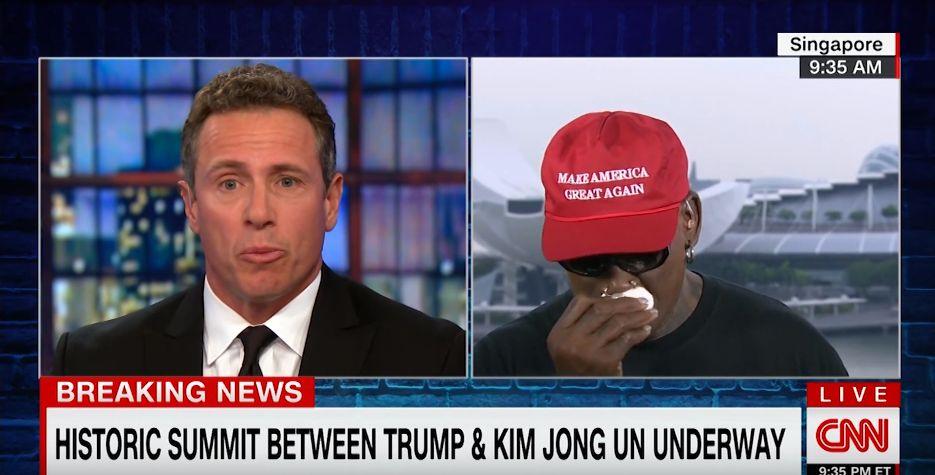 데니스 로드먼이 CNN과의 인터뷰 도중 울음을 터뜨린 이유(동영상)