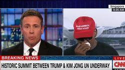 데니스 로드먼이 CNN과의 인터뷰 도중 울음을 터뜨린