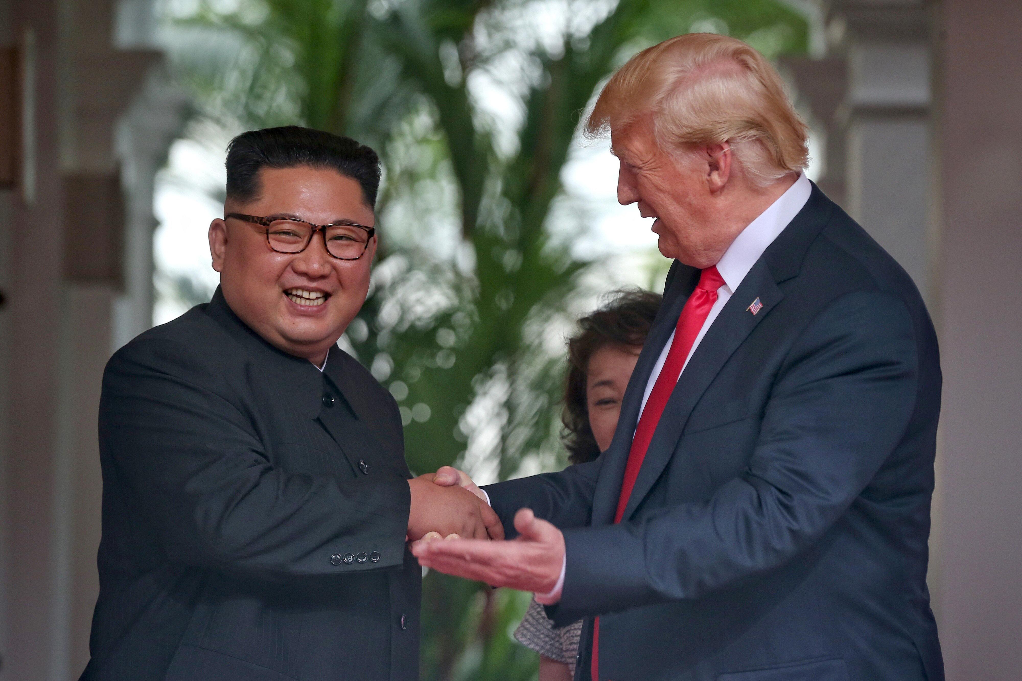 트럼프와 김정은의 오찬 메뉴가