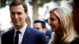 Senior White House Advisers Jared Kushner and Ivanka Trump attend a reception held at the Israeli Ministry of Foreign Affairs in Jerusalem ahead of the moving of the U.S. embassy to Jerusalem, May 13, 2018. REUTERS/Amir Cohen