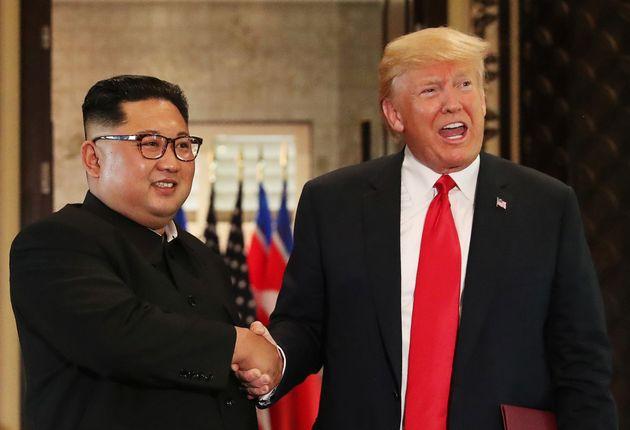 Bildergebnis für 김정은 트럼프 사진
