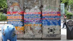 청계천 베를린장벽 훼손한 그래피티 아티스트가 경찰 조사에서 한