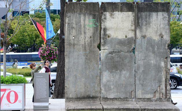 훼손 전 베를린 장벽의