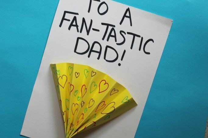 Kate Williams' four-year-old daughter has made a version of this Fan-tastic Dad design.