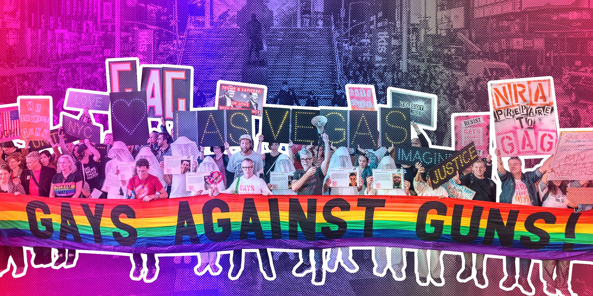 Gays Against Gunsorganized a protest march in New York on Oct. 2, 2017, in the wake of the Las Vegas massacre. The grou