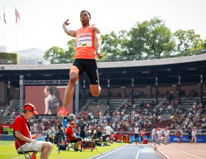 "Long jumper Juan Miguel Echevarria said ""I want to jump at this level for a long time"" after recording the best mark in 23 ye"