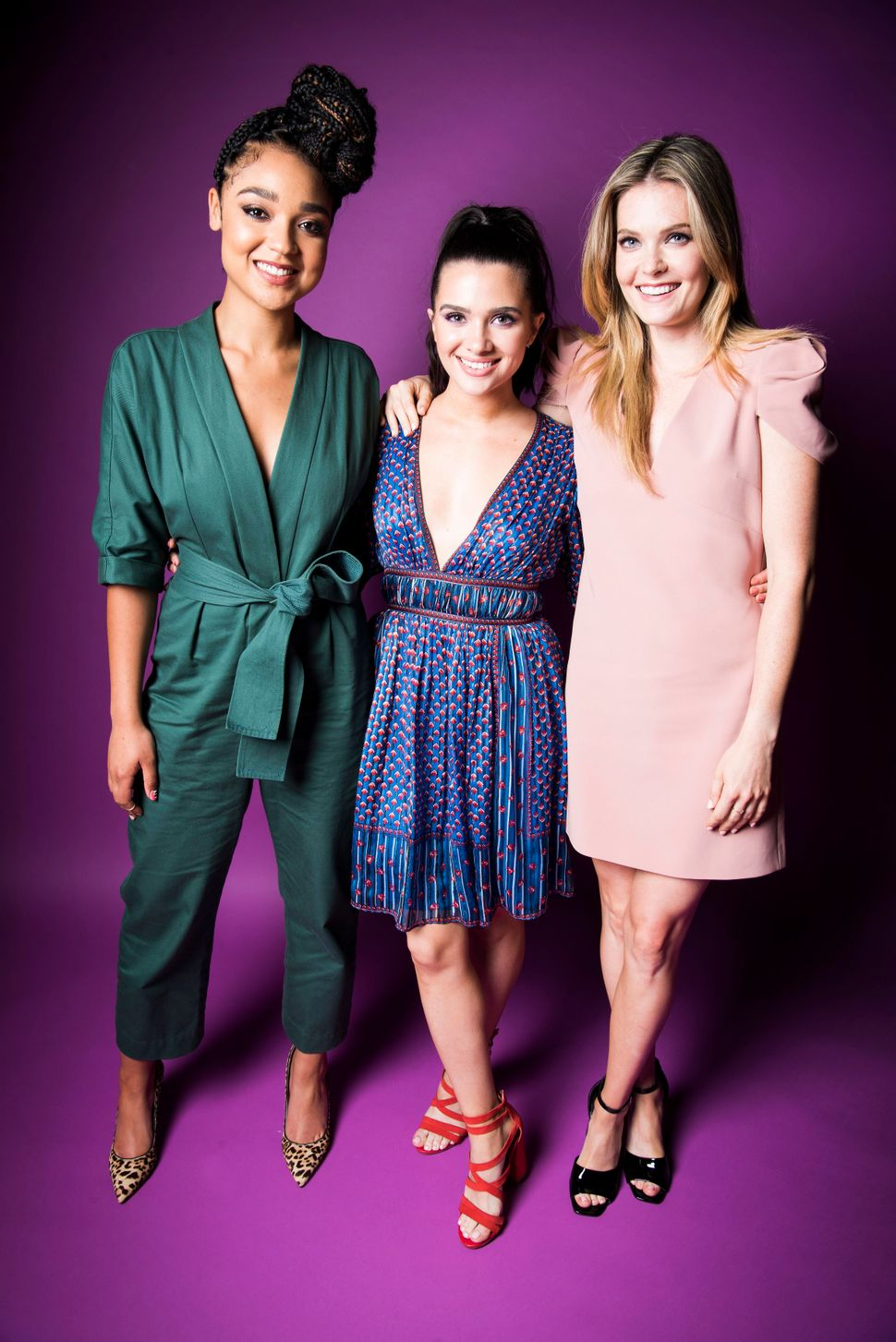"Aisha Dee, Katie Stevens and Meghann Fahy of ""The Bold Type"" visit HuffPost."