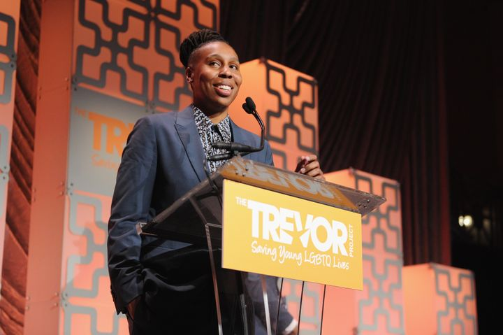 Lena Waithe accepts the Hero Award onstage during The Trevor Project TrevorLIVE NYC.