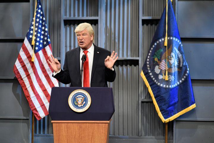 "Alec Baldwin as President Donald Trump on ""Saturday Night Live,"" Oct. 14, 2017."
