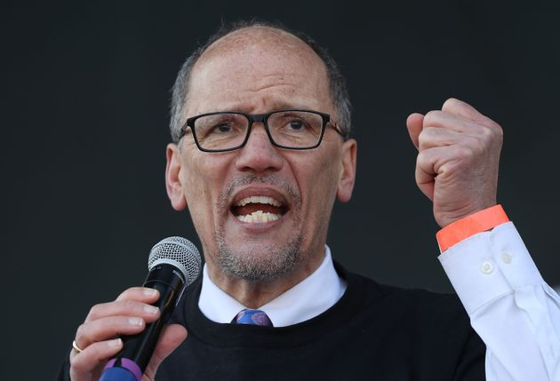 Tom Perez, chairman of the Democratic National Committee, speaks at an event in