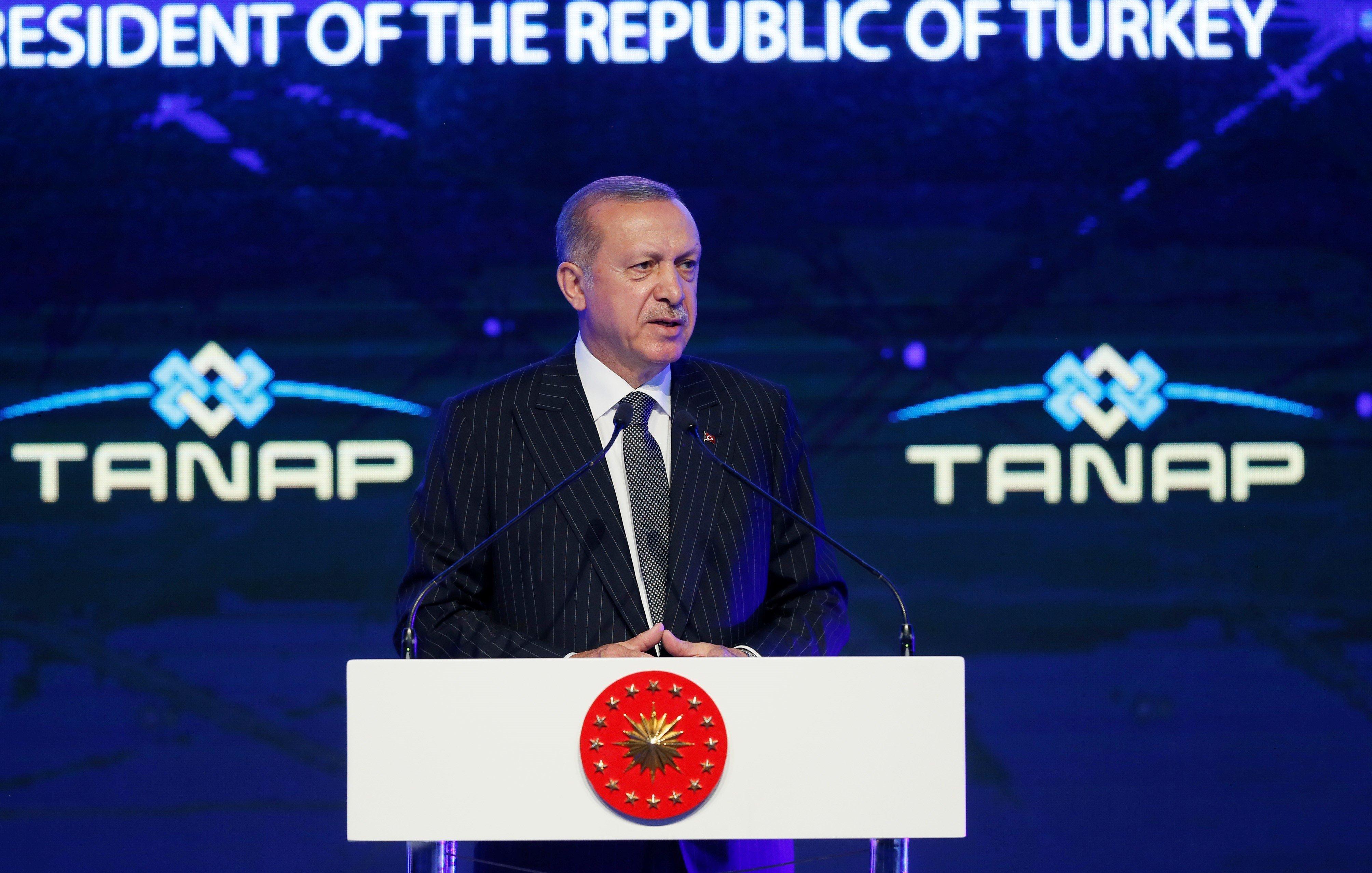 Ο Ερντογάν εγκαινίασε τον αγωγό