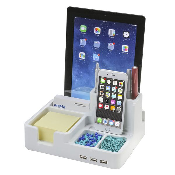 "Get it on <a href=""https://www.amazon.com/Organizer-Docking-Station-Tablets-Smartphones/dp/B01DXVK2QO?tag=thehuffingtop-20&th"