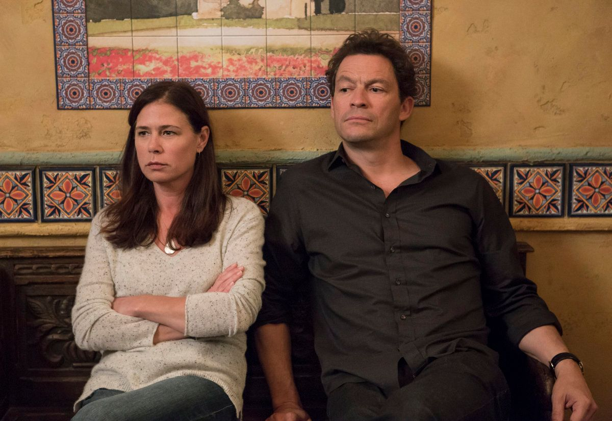 "Helen (Maura Tierney) and Noah (Dominic West) in a scene from Season 4 of ""The Affair."""